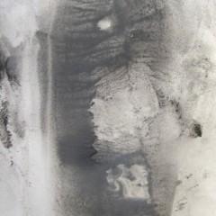 Dotyk 05, papier, akryl, 50 cm x 32,5 cm, 2012