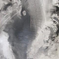 Dotyk 06, papier, akryl, 50 cm x 32,5 cm, 2012