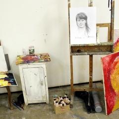 pracownia i mój portret autorstwa Miso Vemica
