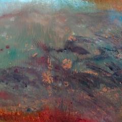 1 z cylku PEJZAŻE WYOBRAŹNI, olej na płótnie,  75 x 92 cm