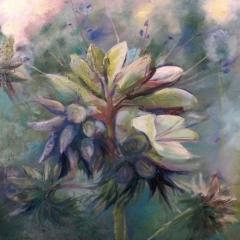 9 z cylku PEJZAŻE WYOBRAŹNI, olej na płótnie,  60 x 81 cm