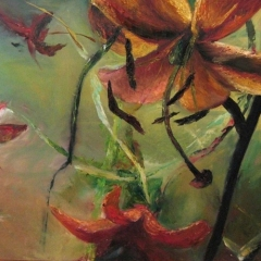 10 z cyklu PEJZAŻE WYOBRAŹNI, olej na płótnie, 75 x 92 cm