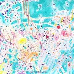 bez tytułu, 29,7 cm x 42 cm, papier, pastel olejna wodna, 2018
