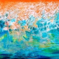 bez tytułu, 29,7 cm x 42 cm, papier, pastel olejna wodna, 2019