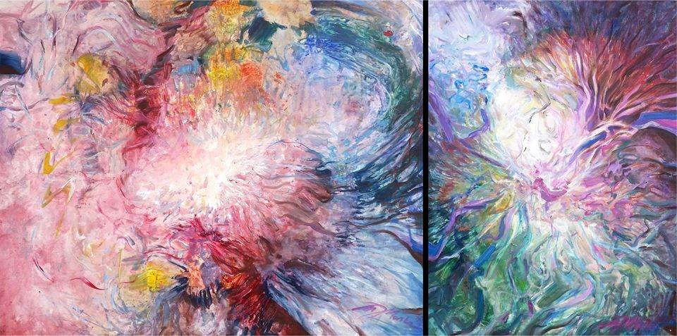 W Wewnętrznym Ogrodzie, olej na płótnie, 80 cm x 100 cm, 80 cm x 60 cm, 2014