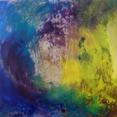 Wewnętrzna Mapa 03, olej na płótnie, 50 cm x 50 cm, 2013