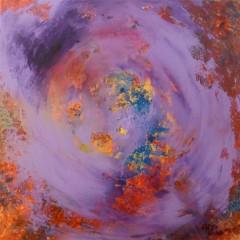 Wewnętrzna Mapa 04, olej na płótnie, 50 cm x 50 cm, 2013