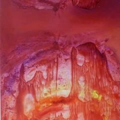 Wewnętrzna Mapa 05, olej na płótnie, 100 cm x 50 cm, 2013