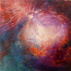 Wewnętrzna Mapa 09, olej na płótnie, 50 cm x 50 cm, 2013