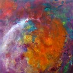 Wewnętrzna Mapa 13, olej na płótnie, 50 cm x 50 cm, 2013