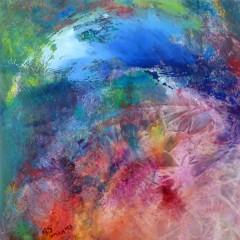 Wewnętrzna Mapa 15, olej na płótnie, 50 cm x 50 cm, 2013