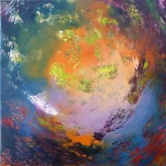 Wewnętrzna Mapa 18, olej na płótnie, 50 cm x 50 cm, 2013