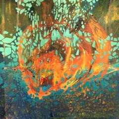Wewnętrzna Przestrzeń 20, olej na płótnie, 22 cm x 22 cm, 2016