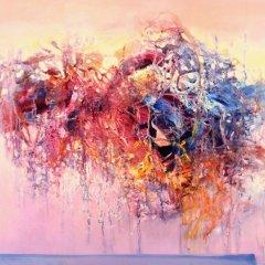 Wewnętrzna Przestrzeń 05, olej na płótnie, 60 cm x 80 cm, 2015