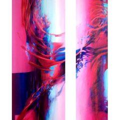 Wewnętrzna Przestrzeń 10 - 11, olej na płótnie, 180 cm x 50 cm, 180 cm x 30 cm, 2015